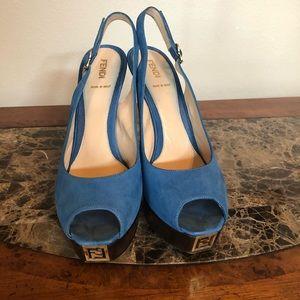 Fendi suede sandals